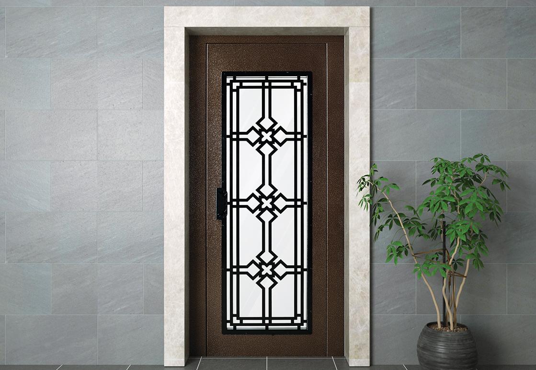 Manual elevator door - Coppery HAS 13