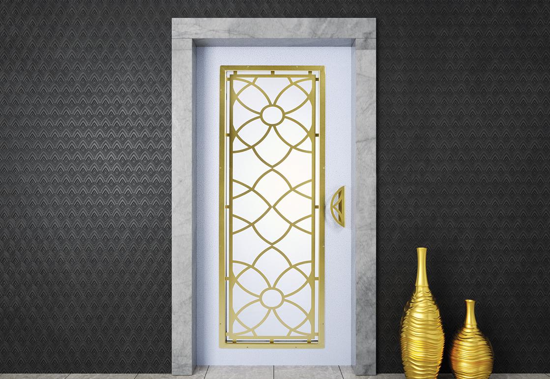 Manual elevator door - White Silver HAS 11