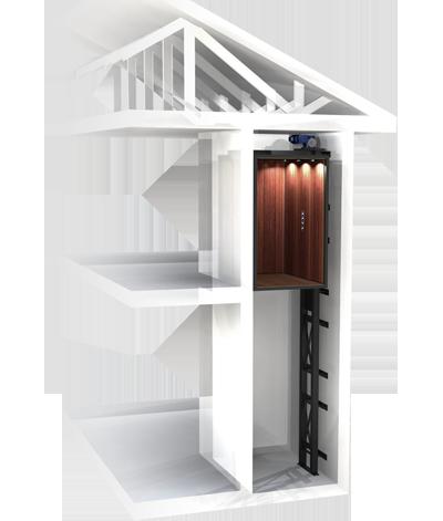 ديكورات واستيل مقصورة المصعد