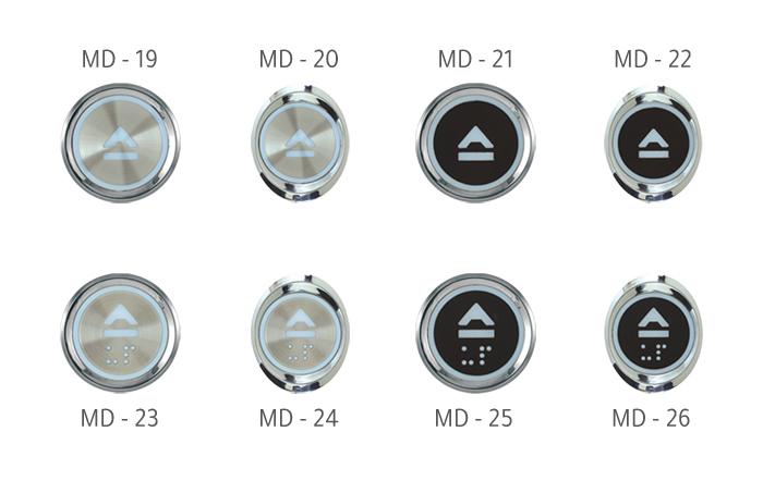 أزرار التحكم بالمصاعد MD Buttons Series • B
